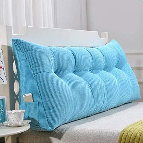 Slaapbank, breed, driehoekig, voor slaapkamer, rug, hoofdkussen, afneembare riem 180CM Een