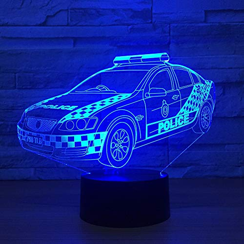 Police visuel décoration de la Maison Gradient modélisation Enfants Touche Tactile Voiture Nuit lumière bébé Sommeil éclairage Cadeau Lampe de Table