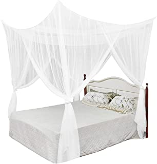 Ylucky Four Corner Mosquito Net Post Bed Curtain Canopy Hanging Kit Bedroom Decoration Princess Curtains for Tent, Kids Ro...