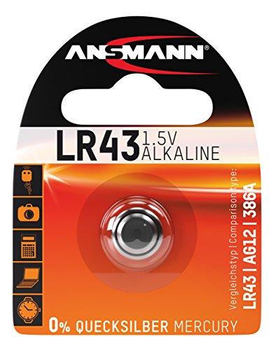ANSMANN 5015293 Knofpzelle Batterie Alkaline LR43 - 1,5V
