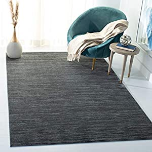 Safavieh Vision Collection VSN606D Modern Ombre Tonal Chic Non-Shedding Stain Resistant Living Room Bedroom Area Rug, 6′ x 9′, Grey