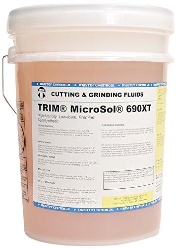 TRIM Cutting & Grinding Fluids MS690XT/5 MicroSol 690XT Low foam Premium Semisynthetic Microemulsion Coolant, High Lubricity, 5 gal Pail