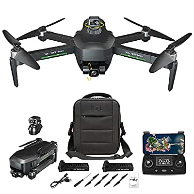 NiGHT LiONS TECH GPS Drones with Camera for Adults,3-Axis Gimbal 4K Camera, Obstacle Avoidance,Anti-Shake, 5G WIFI FPV, Long Flight Time,Brushless Motor, Auto Return Home(2 batteries)