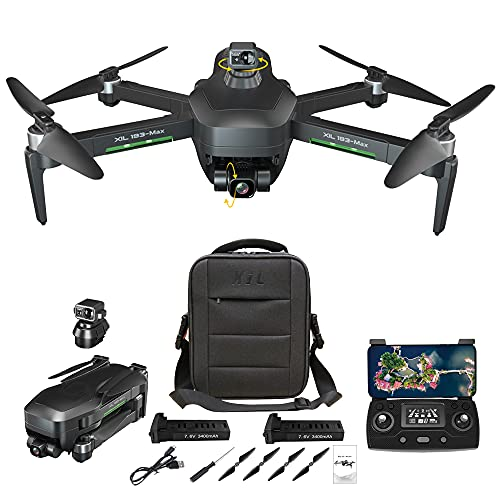 NiGHT LiONS TECH GPS Drones with Camera for Adults 4K,Obstacle Avoidance,3-Axis Gimbal,Anti-Shake,5G WIFI FPV,Long Flight Time,Brushless Motor,Auto Return Home(2 batteries)