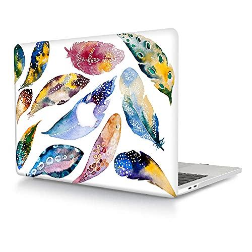 ACJYX - Funda para MacBook Pro de 15 pulgadas (2019, 2018, 2017, 2016, versión A1990, A1707, con barra táctil, carcasa de plástico duro mate para MacBook Pro de 15,4 pulgadas, plumas de colores