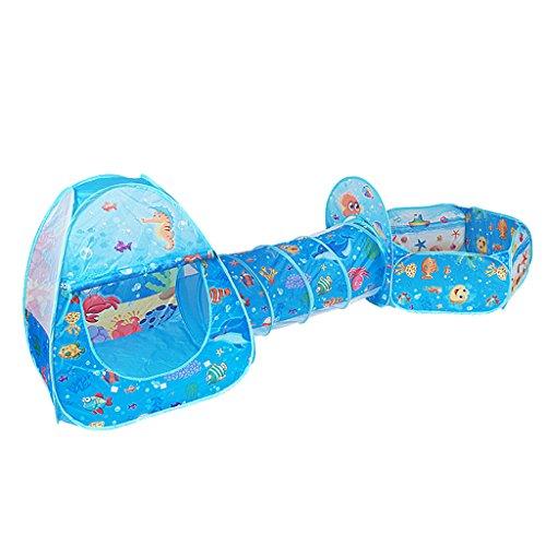 Sharplace 3 in 1 Kinder Spiel Zelt Ballpool Spielhaus mit Ballkorb, Kinder Indoor Outdoor Spielspaß, Faltbar & Tragbar - # A
