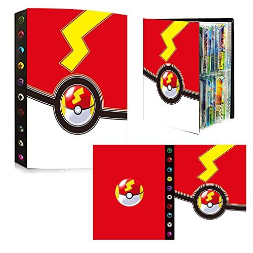 bsdppt Album compatible con cartas Pokemon 2021, Libro cromos álbum, Sobres tcg archivador, Fundas juguetes, Soporte para álbum, Capacidad para 240 cartas - M102