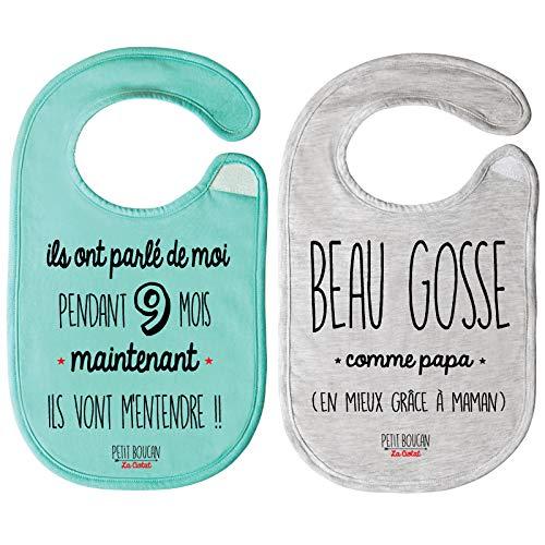 Petit Boucan - lot de 2 bavoirs bébé garçon