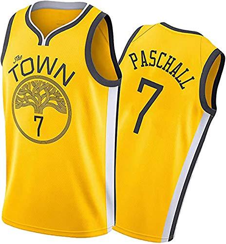 JKHKL Camiseta De Baloncesto para Hombre, Warriors # 7 Paschall Camiseta De Baloncesto Ropa Deportiva, Camiseta Sin Mangas Unisex Camiseta De Baloncesto XXL Yellow