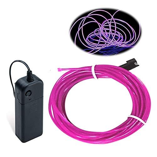Lila EL Draht, Balabaxer 5M Neon Kabel Mit Batterie Trafo, Leuchtet Electroluminescent, für Partys, Halloween, DIY-Dekoration