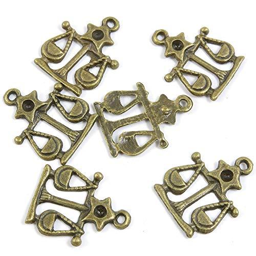 Antieke Bronzen Tone Sieraden Bedels E3CO7W Weegschaal Ambachtelijke Kunst maken Crafting Kralen Antiek brons