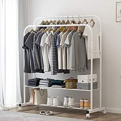 Modern White Clothing Garment Rack For Hanging ...