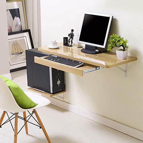 Yxxc Mesa de Ordenador Simple, Juego de 3 Piezas (Mesa montada en la Pared + cajón + mamparo), Oficina en casa, Sala de Estar, Dormitorio, Escritorio de Estudio Colgante, fácil instalación