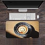 Alfombrilla de Ratón Grande Borde de Bloqueo Alfombra Grande Xxl Alfombrilla de Escritorio para Ordenador Teclado Alfombrillas para Ordenador Portátil Impresión Vintage 900X300X3Mm