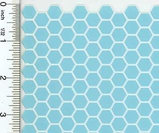 Houseworks, Ltd. Dollhouse Miniature Light Blue Large Hexagon Tile Flooring on White