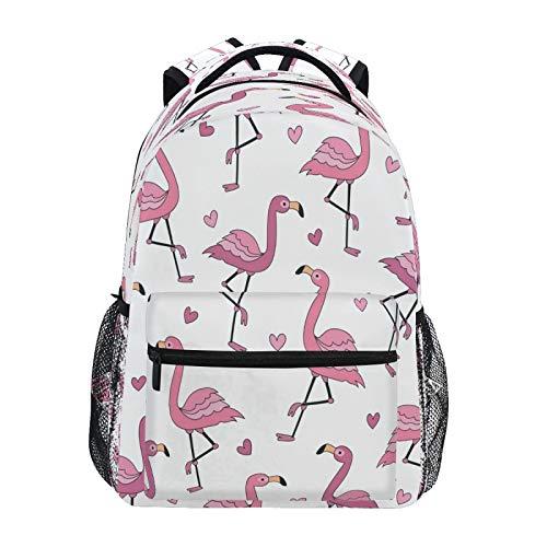 JUMBEAR Mochila de flamenco tropical rosa para niños, portátil, viaje, escuela media, estudiantes, lona, ligera, impermeable, para negocios, para mujeres, hombres y mujeres