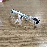 Babimax - Gafas de seguridad de cristal transparente, protección UV a prueba de viento, lente transparente, templo negro resistente a los arañazos, niebla
