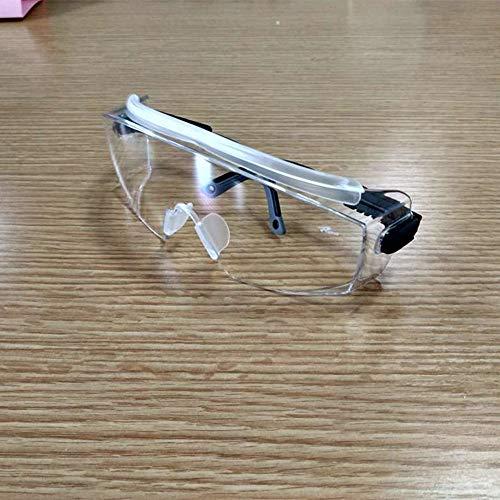 ENJOHOS Schutzbrille Sicherheitsbrille für Brillenträger, Kratzfest Beschlagfrei Winddicht UV-Schutz, mit Verstellbarem Bügel, Glasklare Scheibe, für Fahrrdfahren, Labor, Baustelle, Outdoor