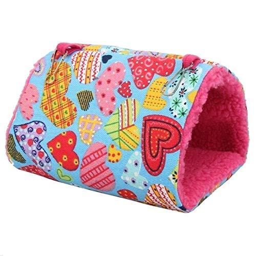 HAOZHAO Cálido Nido de pequeña Percha de Aves Sun y Acogedor Tent Casa del pájaro Casa Hamaca (Color : Pink)