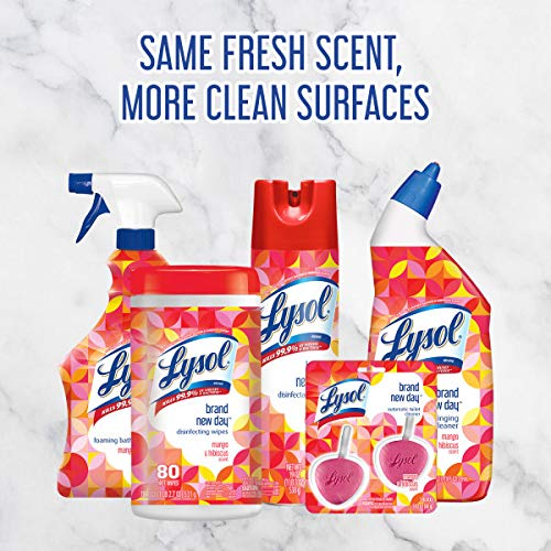 Lysol Disinfecting wipes, 320 Count (80 Count X4), 2 Mango and hibiscus Plus 2 Lemon and Lime Blossom, Packaging May Vary