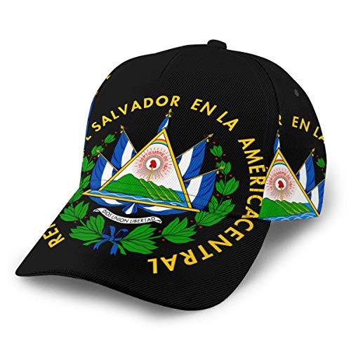 Sombrero Snapback Escudo De Armas De El Salvador Sombreros De Hip Hop Unisex Gorra De Papá Gorra De Béisbol Ligera Retro Adulto Impresión Plana Bill Verano Snapback Senderismo Únic