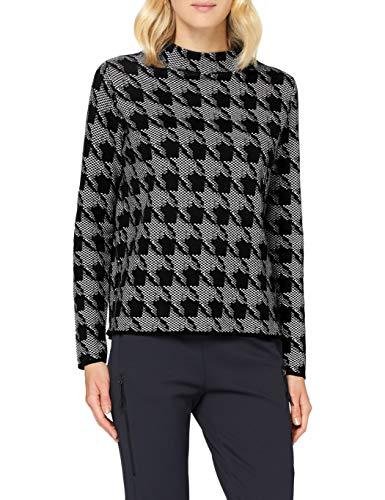 Gerry Weber Womens 1/1 Arm Pullover Sweater, Schwarz/Grau Gemustert, XXXX-Large
