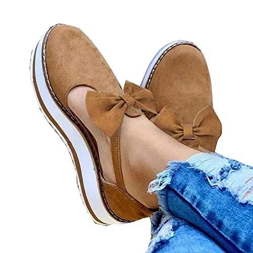 Women s Closed Toe Flat Heel Sandals Platform Flat Heel Pumps Flat Cutout Ankle Boots Thick Memory Foam Bottom Buckle Strap for Women Platform Flat Closed Toe Shoes Brown 39