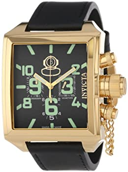 Invicta Men s 7187 Signature Collection Russian Diver 18k Gold-Plated Chronograph Watch