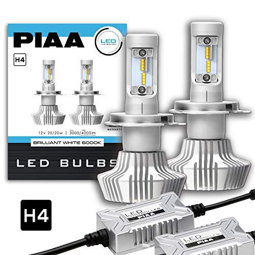 Amazon.co.jp 限定PIAA ヘッドライト用 LEDバルブ 6000Kシリーズ 3000 4000lm H4 12V 20 20W車検対応 2個入 X7340