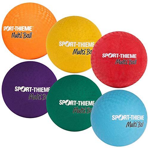 Sport-Thieme MultiBall | Spielball, Trainingsball, Kickball, Wasserball | Griffig, Weich, Robust | In sechs Farben u. 2 Größen | Gummi/Nylon | Nadelventil | Markenqualität