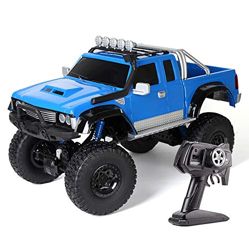 BSQS1 1:8 Scale RC Pickup Truck 2.4GHz Remote Control 25km/h High Speed Climbing Car Rechargeable All Terrain 4WD Off-Road Vehicle RC Crawlers Electric Hobby Toy Cars for Adults Boys & Girls