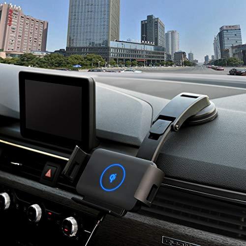 LUOWAN Qi Cargador de coche inalámbrico de carga rápida para Samsung Galaxy W20/Fold de sujeción automática de ventilación de montaje de teléfono soporte de protección 20Mr