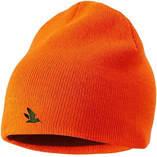 Seeland - Gorro reversible de caza naranja señal – Gorro de caza – gorro naranja – cálido gorro verde para cazadores