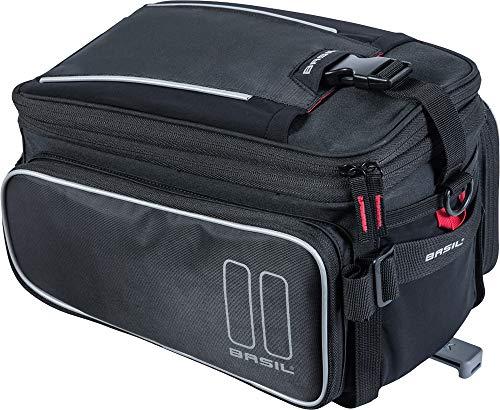 Basil Unisex– Erwachsene Sport Design Gepäckträgertasche, Schwarz Einheitsgröße