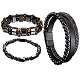 Sofia's Upgraded Black Magnetic Bracelet Natural Hematite Stone Jewelry, Hematite Magnetic Bracelet Men Women, Magnetic Tiger Eye Bracelets