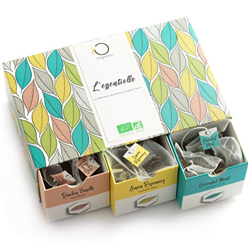 BIO Tee Set | Geschenk-Set | Premium Teesortiment, 6 Sorten, Natürliche Aromen | Probierset 48 Beutel | Geschenk-Idee