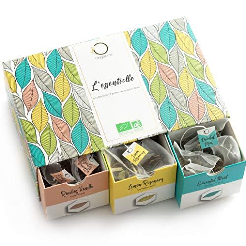 ☘️ TE ORGANICO - Caja te Organico | Surtido de te premium, 6 sabores diferentes | Caja Regalo | 48 bolsitas piramidales