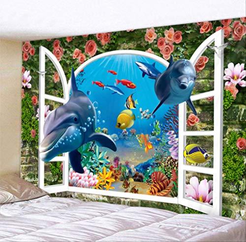 ditiao wandbekleding Aquarium onderwaterwereld (grootte: 150cm * 200Cm)