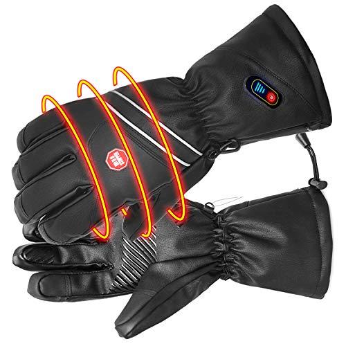 BIAL Beheizte Handschuhe Wasserdicht Skihandschuhe Herren für Radfahren Angeln Jagen mit 7.4V 2400Mah Elektrische Wiederaufladbare Batterien funktioniert bis zu 2.5-6 Stunden Größe M L XL