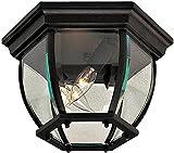 Minka Lavery Outdoor Ceiling Lighting 71174-66, Flush Mount, 120 Watts, Black
