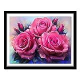 N / A 5D-Diamante Pintura peonía impresión Conjunto Completo de Flores DIY Hecho a Mano Bordado de Diamantes de imitación Punto de Cruz Set habitación Sala de Estudio decoración del hogar-50x40cm