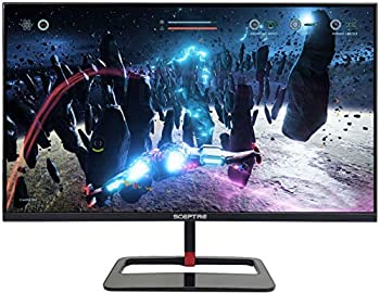 Sceptre 32 inch QHD IPS LED Monitor HDR400 2560x1440 HDMI DisplayPort up to 144Hz 1ms Height Adjustable Build-in Speakers Gunmetal Black 2021  E325B-QPN168