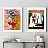 CloudShang Bunte Figur Linie Gesicht Poster Le Corbusier