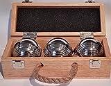 Premierboule - Juego Leisure III de 3 bolas de petanca con maletín de madera