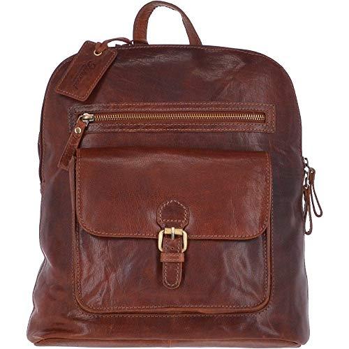 ASHWOOD Großer Vintage Leder-Rucksack Honey - G28, Braun - Honigbraun - Größe: Einheitsgröße