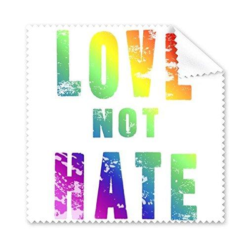 Arco iris Gay lésbico LGBT transgénero bisexuals apoyo amor no odio bandera ilustración gafas paño de limpieza paño móvil limpiador de pantalla, 5unidades
