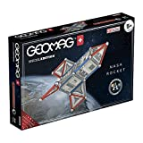 Geomag- Special Edition Raqueta NASA Construcciones Magnéticas, Color Multicolor (Blanco/Gris/Rojo), 84 Unidades (810)