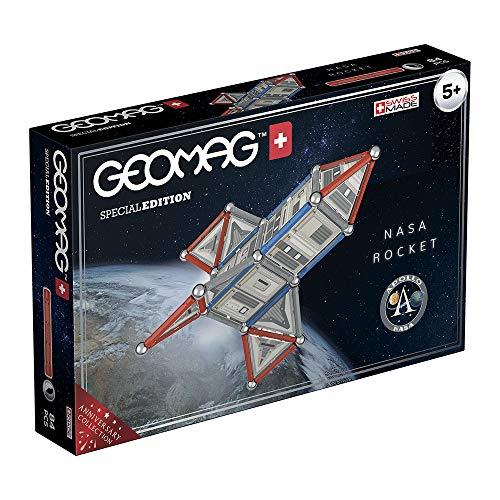 Geomag Special Edition Razzo NASA, Costruzioni Magnetiche, 84 Pezzi, Colore Multicolore(Bianco/Grigio/Rosso), 810