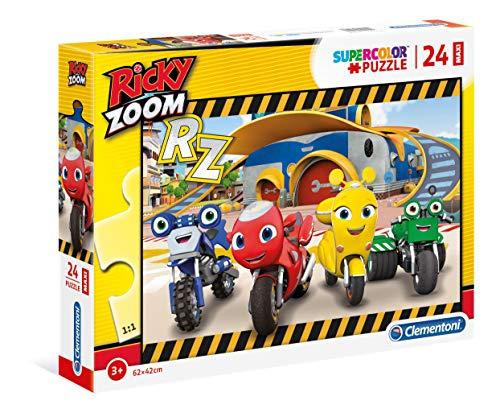 Clementoni- Ricky Zoom Puzzle, 24 Maxi Pezzi, Multicolore, 28518