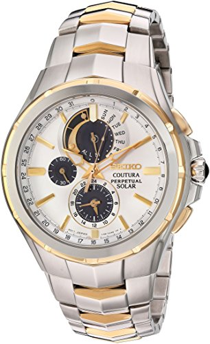 Seiko SSC560 Coutura Two Tone Stainless Steel Silver Dial Men's Chronograph Watch